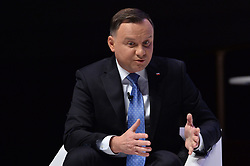 © Licensed to London News Pictures. 03/12/2019. London, UK. H.E. Andrzej Duda, President of Poland makes a keynote speech at the NATO Engages Event. This year, NATO maeks its 70th Anniversary. Photo credit: Ray Tang/LNP