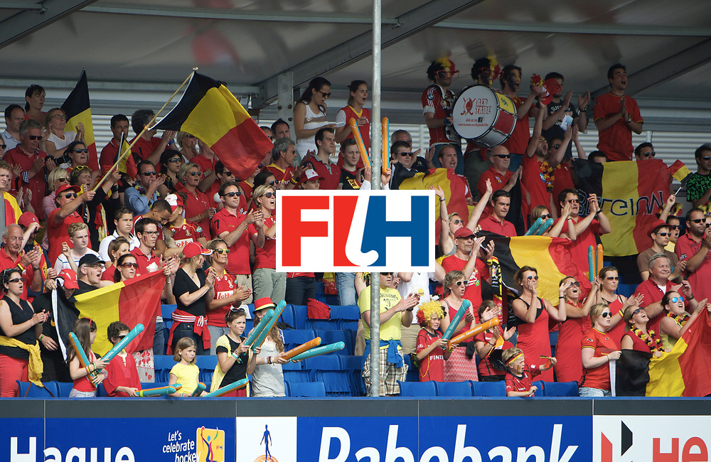 DEN HAAG - Rabobank Hockey World Cup<br /> 27 Japan - Belgium<br /> Foto: Belgian fans.<br /> COPYRIGHT FRANK UIJLENBROEK FFU PRESS AGENCY