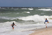 The wild North Sea at the Southern tip of Sylt, the Hörnum Odde.