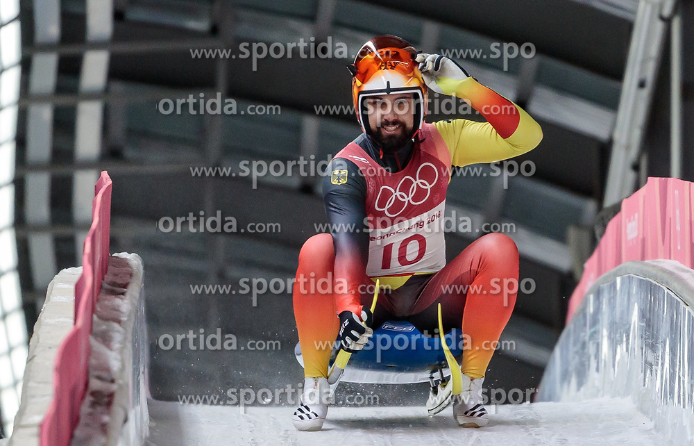 11.02.2018, Olympic Sliding Centre, Pyeongchang, KOR, PyeongChang 2018, Rodeln, Herren, 3. Lauf, im Bild Andi Langenhan (GER) // Andi Langenhan of Germany during the Men's Luge Singles Run 3 competition at the Olympic Sliding Centre in Pyeongchang, South Korea on 2018/02/11. EXPA Pictures © 2018, PhotoCredit: EXPA/ Johann Groder