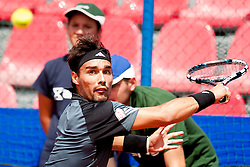 Fabio Fognini of Italy during a tennis match against the Pablo Cuevas of Uruguay in semi-final of singles at 25th Vegeta Croatia Open Umag, on July 27, 2014, in Stella Maris, Umag, Croatia. Photo by Urban Urbanc / Sportida
