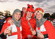 England fans before the Rugby World Cup Pool A match between England and Wales at Twickenham, Richmond, United Kingdom on 26 September 2015. Photo by David Charbit.