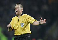 "PORTUGAL - PORTO 23 FEBRUARY 2005: Referee GRAHAM POLL (ENG), First Knock-out Round First Leg of the UEFA Champions League, match FC Porto (1) vs FC Internazionale (1), held in ""Dragao"" stadium  23/02/2005  20:03:14<br />