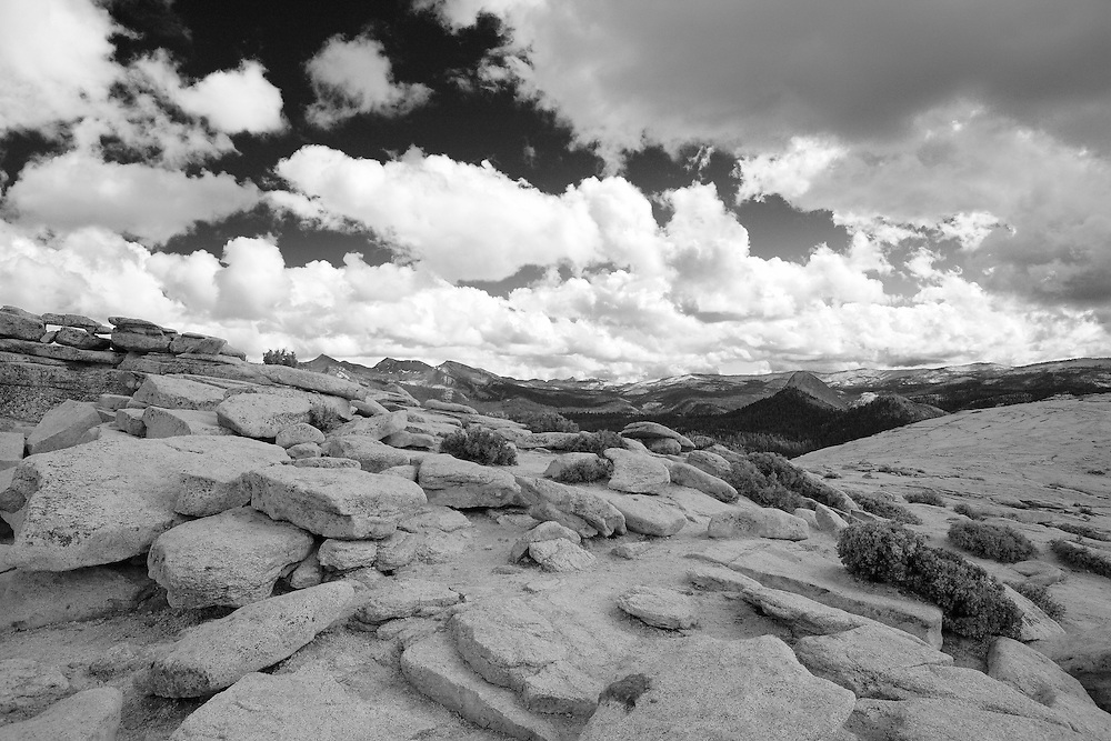 Top Of Half Dome Surface - Yosemite - Black & White