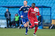 Nortei Nortey (Welling United) during the Vanarama National League match between FC Halifax Town and Welling United at the Shay, Halifax, United Kingdom on 30 January 2016. Photo by Mark P Doherty.