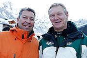 12.Jan.2012; Adelboden; Ski alpin - Riesenslalom Adelboden 2013; Richard Roeteli links und Hans-Ruedi Regez. (Christian Pfander/freshfocus)