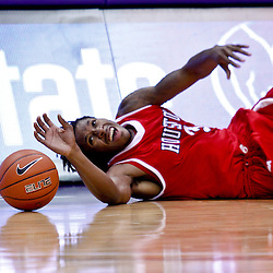 November 30, 2010; Baton Rouge, LA, USA; Houston Cougars forward Maurice McNeil (3) reaches for a loose ball during the first half of a game against the LSU Tigers Tigers at the Pete Maravich Assembly Center.  Mandatory Credit: Derick E. Hingle