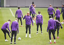 Manchester City's Vincent Kompany and his team mates during the training session at the Etihad Campus ahead of the UEFA Champions League second leg match against FC Barcelona - Photo mandatory by-line: Matt McNulty/JMP - Mobile: 07966 386802 - 17/03/2015 - SPORT - Football - Manchester - Etihad Campus - Barcelona v Manchester City - UEFA Champions League