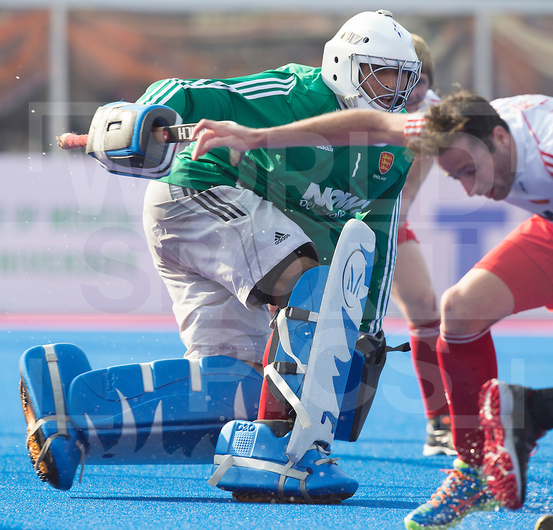 BHUBANESWAR (India) -  Hero Champions Trophy hockey men. match place 5-8. England vs Argentina (1-2). English goalkeeper George Pinner.  Photo Koen Suyk