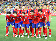 Korea Republic line up during the AFC Asian Cup match at Stadium Australia, Sydney<br /> Picture by Steven Gibson/Focus Images Ltd +61 413 768835<br /> 31/01/2015