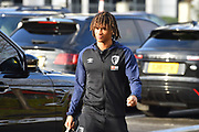 Nathan Ake (5) of AFC Bournemouth arriving at the Vitality Stadium before the Premier League match between Bournemouth and Arsenal at the Vitality Stadium, Bournemouth, England on 25 November 2018.