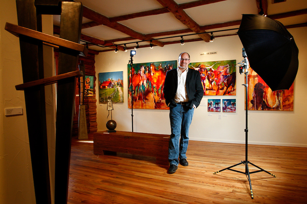 022711-Indian Hills, COLORADO-miradagallery-Gallery owner Steve Sonnen poses for a portrait Sunday, February 27, 2011 at Mirada Fine Art Gallery in Indian Hills..Photo By Matthew Jonas/Evergreen Newspapers/Photo Editor