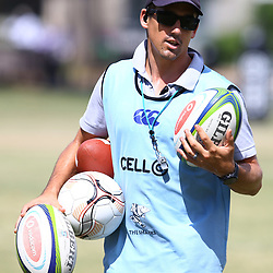 DURBAN, SOUTH AFRICA - JANUARY 19: Alan Basson - Zondagh (Skills Coach) of the Cell C Sharks during the Cell C Sharks training session at Growthpoint Kings Park on January 19, 2018 in Durban, South Africa. (Photo by Steve Haag/Gallo Images)