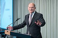 09 MAY 2019, BERLIN/GERMANY:<br /> Olaf Scholz, SPD, Bundesfinanzminister, haelt eine Rede, Wirtschaftskonferenz, Wirtschaftsforum der SPD, Kalkscheune<br /> IMAGE: 20190509-01-204