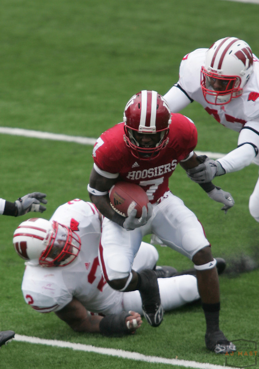 08 November 2008:Indiana wide receiver Ray Fisher (7) as the Indiana Hoosiers played the Wisconsin Badgers in a college football game in Bloomington, Ind....