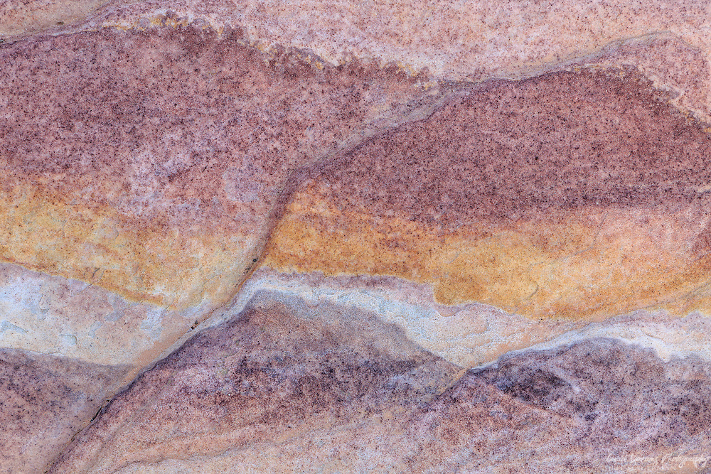 Colors and patterns in sandstone at Valley of Fire State Park, Nevada