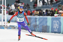 February 11, 2018 - Pyeongchang, GANGWON, SOUTH KOREA - Feb 10, 2018-Pyeongchang, South Korea-KO Eunjung of South Korea action on the snow during an Olympic Biathlon Women Sprint 7.5Km at Biathlon Center in Pyeongchang, South Korea. (Credit Image: © Gmc via ZUMA Wire)