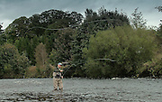fly fishing on the river nith