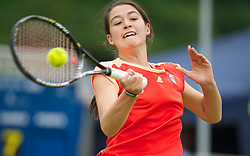 LIVERPOOL, ENGLAND - Thursday, June 21, 2012: Natalie Ward (GBR) during the opening day of the Medicash Liverpool International Tennis Tournament at Calderstones Park. (Pic by David Rawcliffe/Propaganda)
