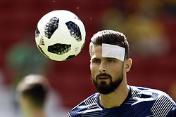 June 16, 2018 - Kazan, Kazan, Russia - Olivier Giroud of France, during warm-up before the 2018 FIFA World Cup Russia group C match between France and Australia at Kazan Arena on June 16, 2018 in Kazan, Russia. (Credit Image: © Mehdi Taamallah/NurPhoto via ZUMA Press)