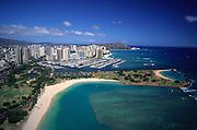 Ala Moana Beach, Waikiki, Oahu, Hawaii, USA<br />