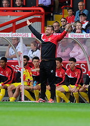 Milton Keynes Dons Manager, Karl Robinson  - Photo mandatory by-line: Joe Meredith/JMP - Mobile: 07966 386802 - 27/09/2014 - SPORT - Football - Bristol - Ashton Gate - Bristol City v MK Dons - Sky Bet League One