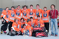 Team Rabbit in second place of Inline hockey national league under 14, on June 4, 2011 in Sportni park, Horjul, Slovenia. (Photo by Matic Klansek Velej / Sportida)