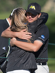 January 27, 2017 - San Diego, Calif, USA - Beau Hossler, of Rancho Santa Margarita, hugs his mom after his round during the second day of the Farmers Insurance Open golf tournament at Torrey Pines in San Diego, Calif. on Friday, January 27, 2017. (Photo by Kevin Sullivan, Orange County Register/SCNG) (Credit Image: © Kevin Sullivan/The Orange County Register via ZUMA Wire)