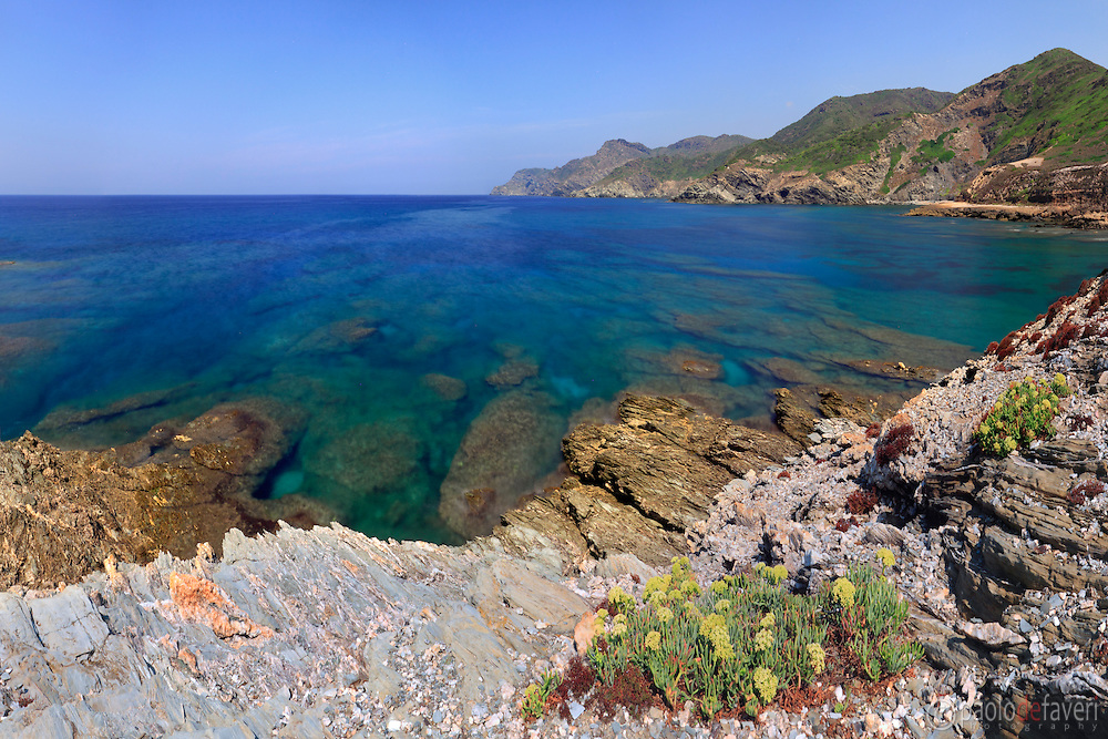 The rocky coast nearby Porticciolo, a small hamlet along the western coast of Sardinia, not far from Capo Caccia and Alghero