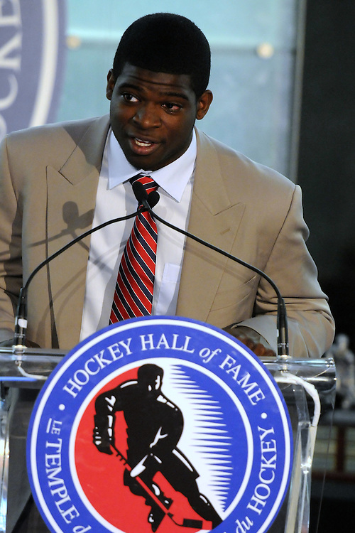 Belleville Bulls' graduate P.K. Subban was a presenter at the 2009-10 Ontario Hockey League Awards Ceremony at the Hockey Hall of Fame on Wednesday June 9, 2010. Photo by Aaron Bell/OHL Images