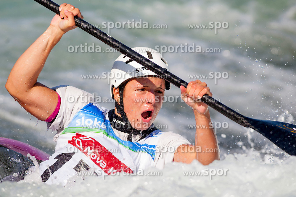 Karolina Galuskova of Czech Republic during Kayak(K1) Women semi-final race at ICF Canoe Slalom World Cup Sloka 2013, on August 18, 2013, in Tacen, Ljubljana, Slovenia. (Photo by Urban Urbanc / Sportida.com)