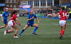 February 2, 2020, Cardiff, United Kingdom: Jasmine Joyce (14) seen in action during the women's Six Nations Rugby between wales and Italy at Cardiff Arms Park in Cardiff. (Credit Image: © Graham Glendinning/SOPA Images via ZUMA Wire)