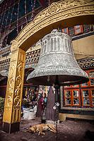 Huge bell near Boudhanath Stupa, Kathmandu, Nepal