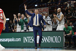 November 9, 2017 - Assago, Milan, Italy - Sarunas Jasikevicius (Zalgiris Kaunas) during a game of Turkish Airlines EuroLeague basketball between  AX Armani Exchange Milan vs Zalgiris Kaunas at Mediolanum Forum on November 9, 2017 in Milan, Italy. (Credit Image: © Roberto Finizio/NurPhoto via ZUMA Press)