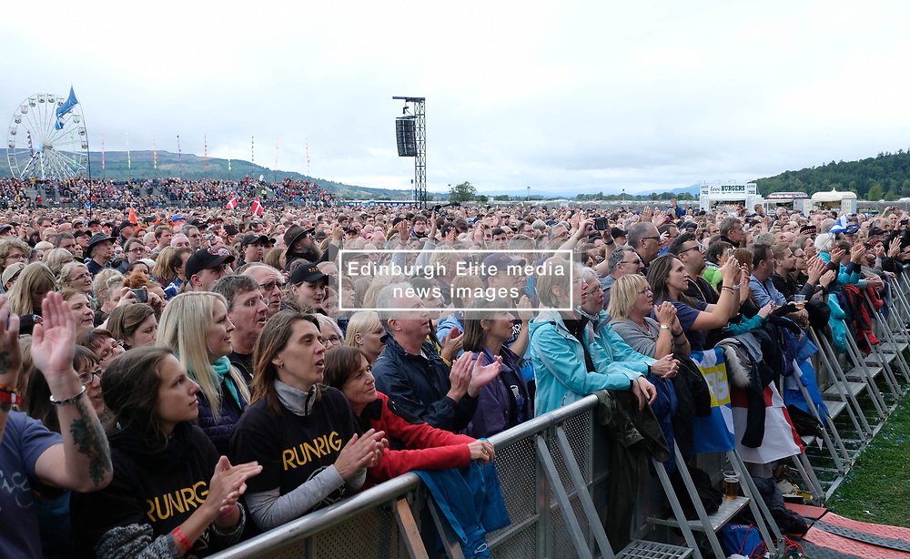 RUNRIG - THE LAST DANCE - FINAL FAREWELL CONCERT, Stirling, Saturday,18th August 2018<br /> <br /> Veteran Scottish rockers Runrig played their farewell concert tonight to mark their retirement after 45 years in the music business.<br /> <br /> The current line-up features Rory Macdonald (Bass), Calum Macdonald (Percussion), Iain Bayne (Drums), Malcolm Jones (Guitar), Brian Hurren (Keyboard) and Bruce Guthro (Lead Singer)<br /> <br /> They were supported by former member Donnie Munro and Julie Fowlis<br /> <br /> Pictured:  The crowd<br /> <br /> <br /> (c) Alex Todd | Edinburgh Elite media