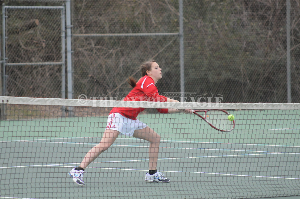 Lafayette High vs. Mooreville in tennis action in Oxford, Miss. on Monday, February 25, 2013.