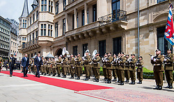 King Willem-Alexander of the Netherlands and Queen Maxima of the Netherlands on the last day of the 3 day state visit of the Dutch Royals to Luxembourg. 25 May 2018 Pictured: King Willem-Alexander of the Netherlands and Queen Maxima of the Netherlands on the last day of the 3 day state visit of the Dutch Royals to Luxembourg. Photo credit: MEGA TheMegaAgency.com +1 888 505 6342