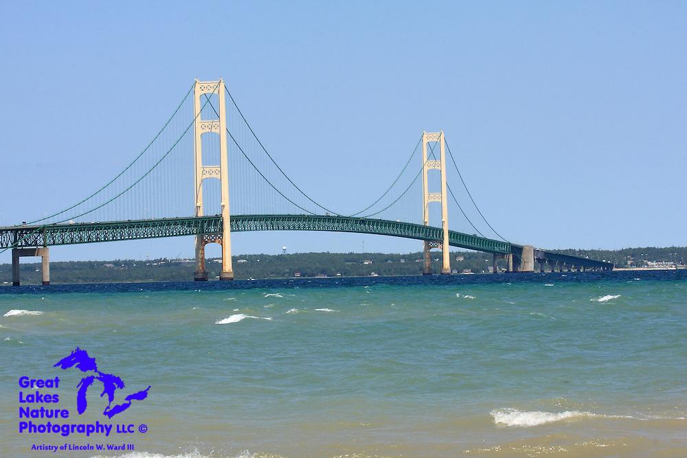 Another look at the beautiful Mackinac Bridge, from Gary B. Williams Park in Mackinaw City, Michigan.