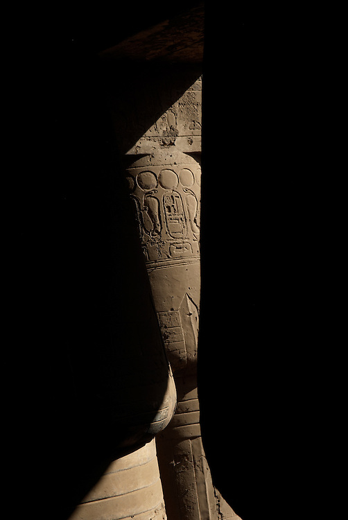 Egypt, Luxor. November/11/2008...Temple abstractions... ..