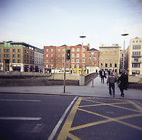 The new Liffey Pedestrian Bridge in Dublin Ireland