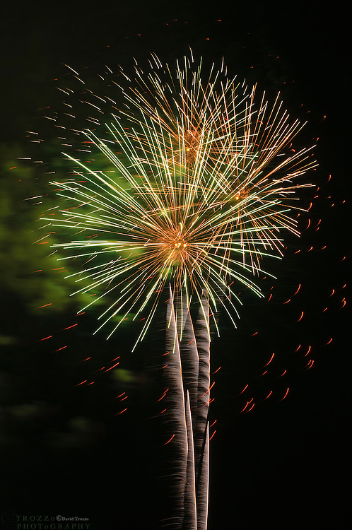 Fireworks light the night sky, Annapolis, Maryland, USA