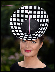 Image ©Licensed to i-Images Picture Agency. 21/06/2014. Ascot, United Kingdom. racegoers attend Day 5 of Royal Ascot. Ascot Racecourse. Picture by Andrew Parsons / i-Images