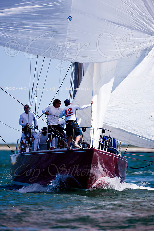 American Eagle sailing in the Nantucket 12 Meter Class Regatta.