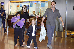 60232380 <br /> Brad Pitt and Angelina Jolie with their children Pax Knox and Vivienne at Tokyo International Airport Arrival, Tokyo, Japan.<br /> Sunday, 28th July 2013<br /> Picture by imago / i-Images<br /> UK ONLY