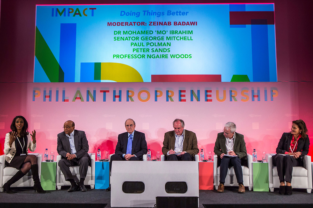 The first panel discussion at the 2014 Stars Foundation Philanthropreneurship Forum, Regents Park, London.