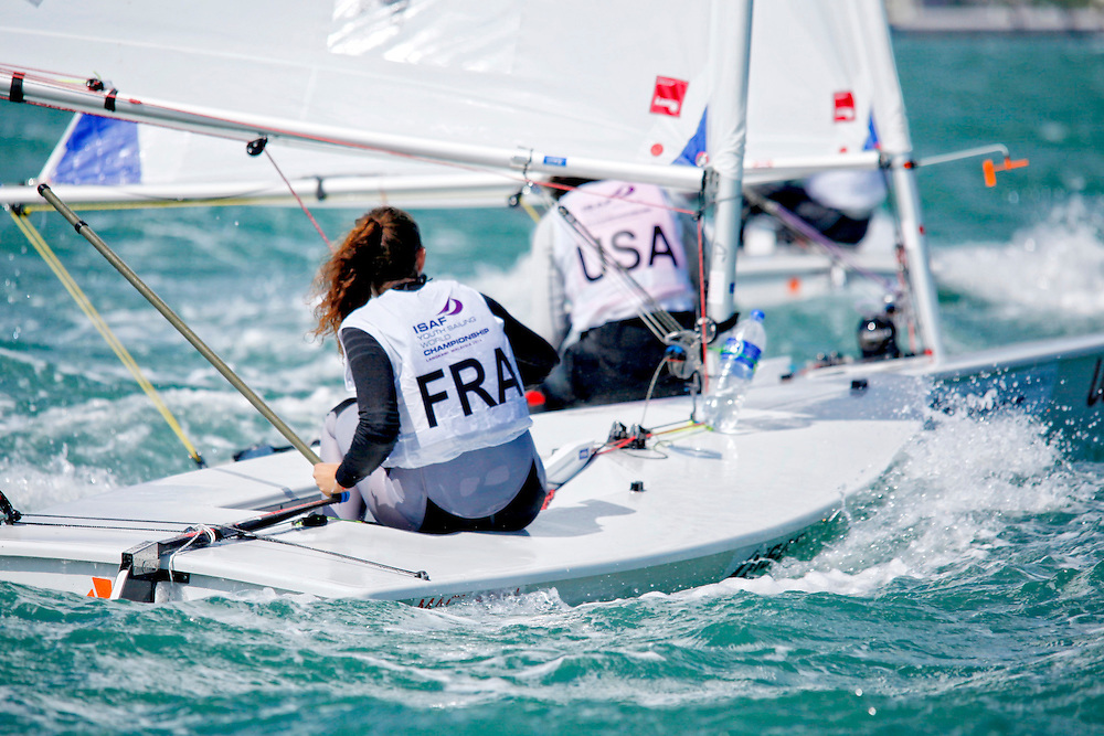 FranceLaser RadialWomenHelmFRALC33LouiseCervera<br />Day1, 2015 Youth Sailing World Championships,<br />Langkawi, Malaysia