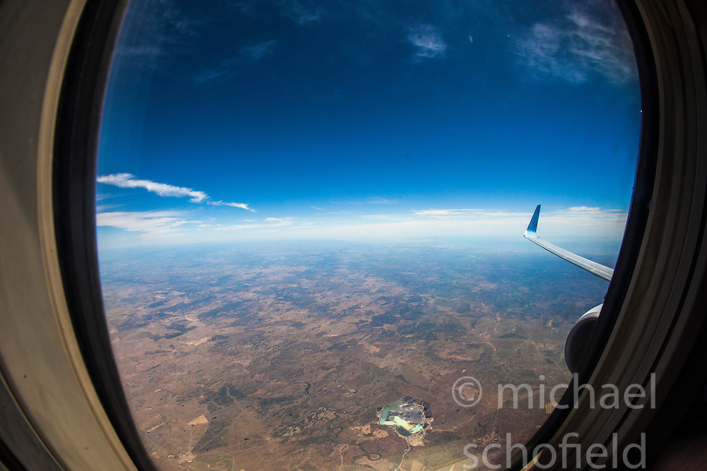 View from a Thomson Boeing 737-800 jet, en-route from Faro, Portugal to Luton...