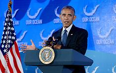 Washington: President Obama delivers remarks at the 2016 Our Ocean Conference, 15 September 2016