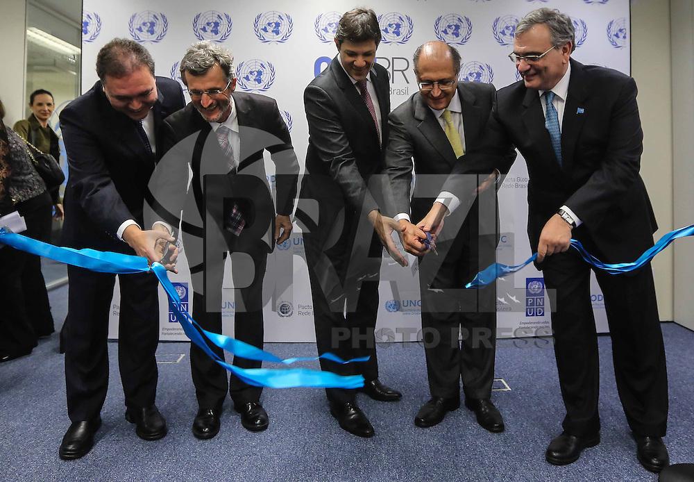 SAO PAULO, SP, 09 DE MAIO 2013 - INAUGURAÇÃO ESCRITORIO DA ONU EM SAO PAULO - Solenidade de inauguração do escritório da ONU (Organização das Nações Unidas ) em São Paulo no centro da cidade de Sao Paulo nesta quinta-feira, 09. FOTO: VANESSA CARVALHO - BRAZIL PHOTO PRESS