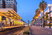 Long Beach, CA, City, MTA - Metro Blue Line, Cityscape, Skyline, Architectural, Building, Southern California, USA,